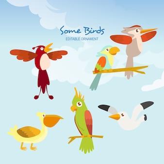 Algunas aves allen