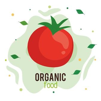 Alimentos orgánicos, tomate fresco y saludable, concepto de comida sana