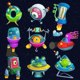 Alines en set de naves espaciales