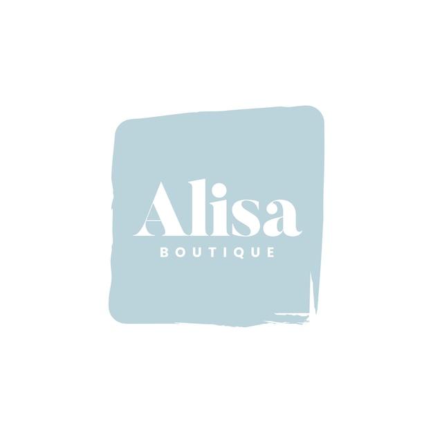 Alisa boutique logo branding vector