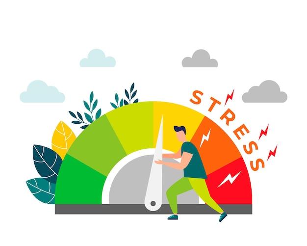 Aliviar el estrés los niveles de estrés se reducen mediante el concepto de resolución de problemas cansado de la frustración