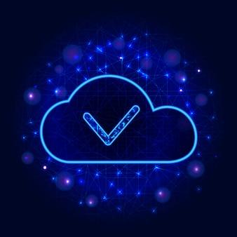 Almacenamiento de datos en la nube o concepto de tecnología informática.