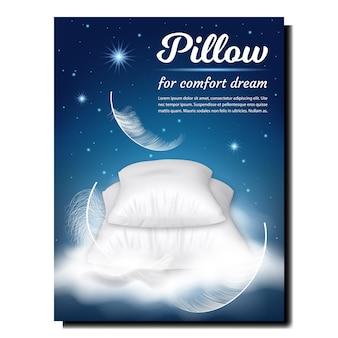 Almohada para la comodidad dream banner publicitario