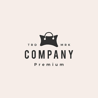 Almohada tienda bolso de compras hipster vintage logo