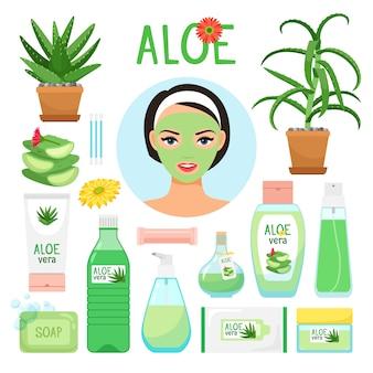 Aloe vera productos cosméticos.