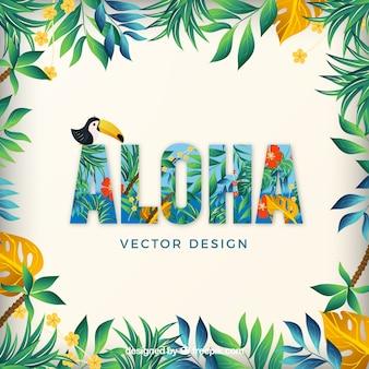 Aloha hawaii verano relajarse paquete de vectores