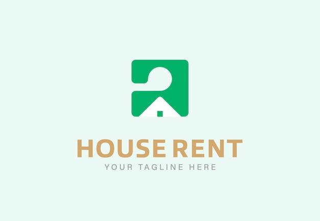 Alquiler de casa diseño de logotipo minimalista.