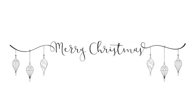 Alquiler de navidad feliz con decoración
