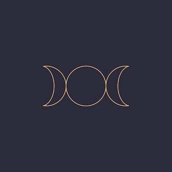Alquimia esotérica mística mágica talismán celestial icono de línea objeto de ocultismo espiritual