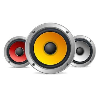 Altavoces de audio agudos aislados