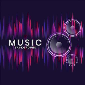 Altavoces de música en diseño de estilo neón.