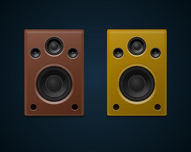 Altavoces de sonido realistas aislados