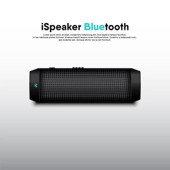 Altavoz bluetooth portátil diseño realista en 3d, altavoces de música electrónica para escuchar eventos de entretenimiento y recreación.