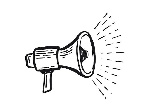 Altavoz icono dibujado a mano icono de anuncios de monetización