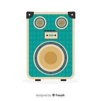 Altavoz para música diseño plano