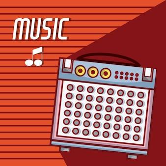 Altavoz portátil de dibujos animados de equipos de música moderna