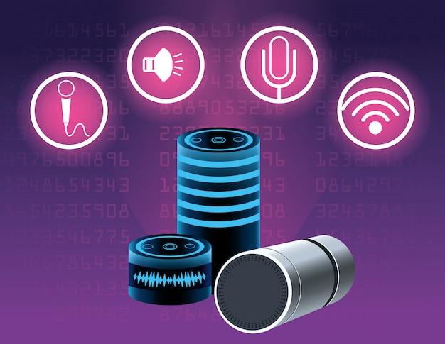 Altavoz de reconocimiento de voz de smartphone