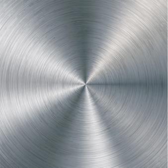 Aluminio con textura pulida, cepillada, cromo, plata, acero.