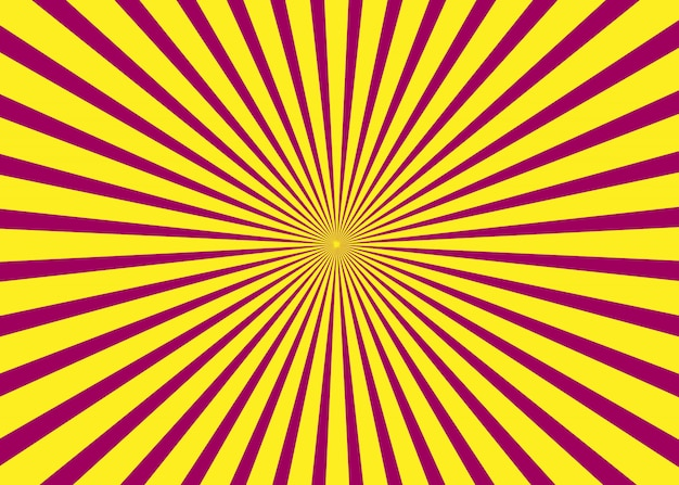 Amanecer. fondo soleado. patrón de sol naciente. ilustración abstracta de rayas.