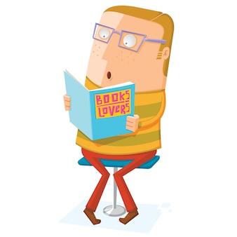 Amante del libro leer un libro