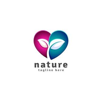 Amante de la naturaleza - plantilla de logotipo ecologista