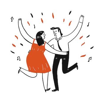 Los amantes estan bailando