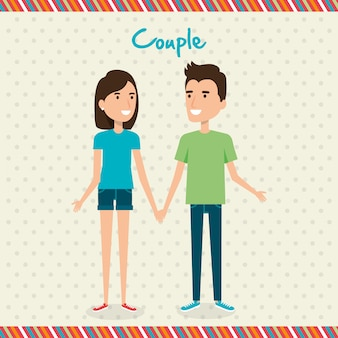 Amantes pareja avatares personajes