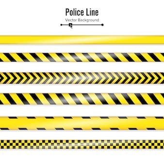 Amarillo con línea de policía negra.