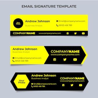 Amarillo negro firma de correo electrónico
