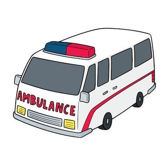 Ambulancia de dibujos animados