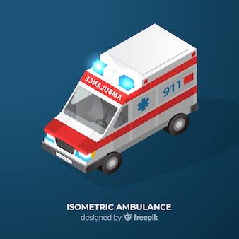 Ambulancia isométrica
