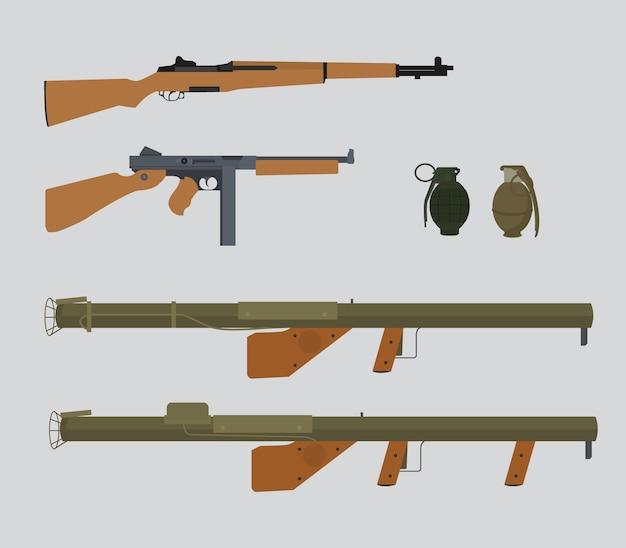 América estados unidos guerra mundial 2 colección de armas
