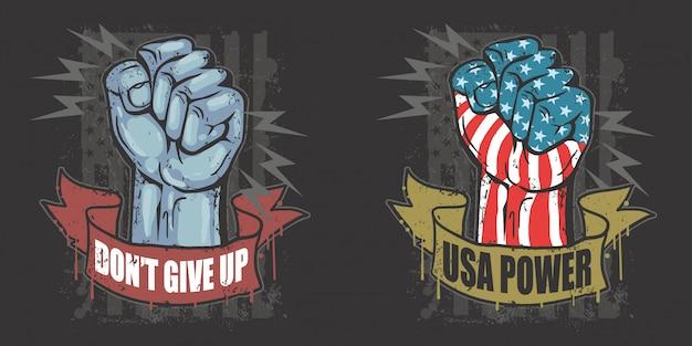 America usa vector del día del trabajo de mano