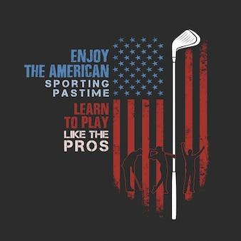 Americano golf tiempo deportivo
