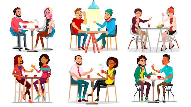 Amigos en cafe