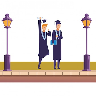 Amigos de la ceremonia de graduación