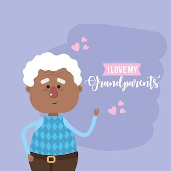 Amo el diseño de mi tarjeta de abuelos