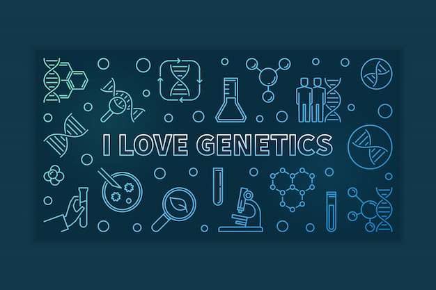 Amo el esquema coloreado de la genética horizontal