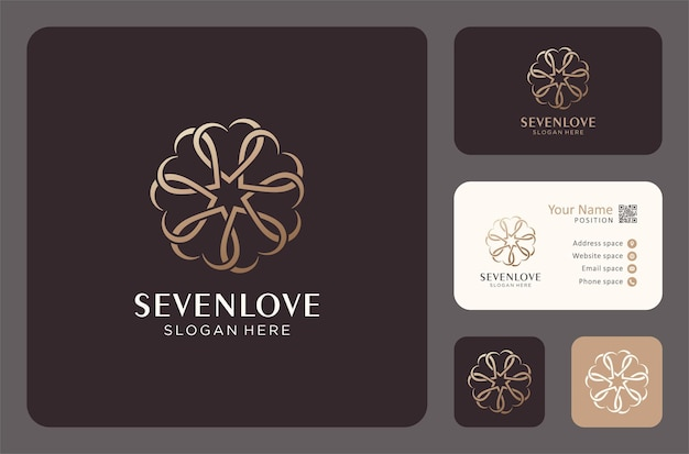 Amor abstracto por el diseño del logotipo de la comunidad social o familiar.