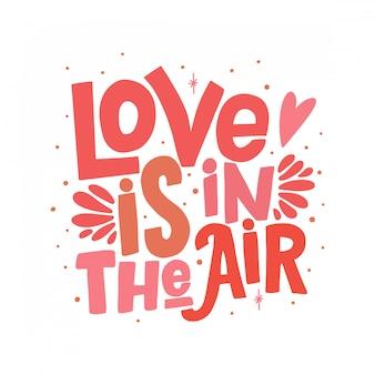 El amor está en el aire citando letras