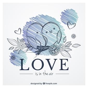 El amor está en el aire vector gratuito