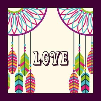 Amor colector de sueño plumas ornamento espíritu libre