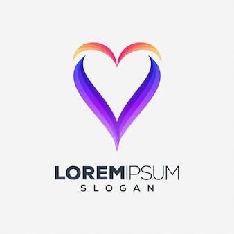 Amor colorido diseño de logotipo
