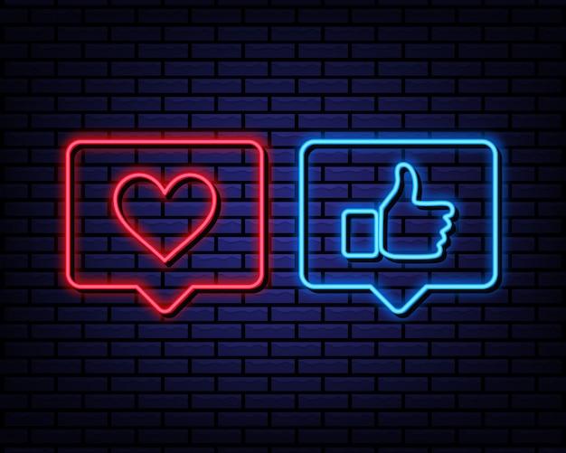 Amor y como letrero de neón