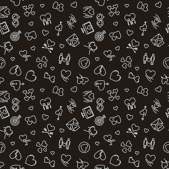 Amor concepto de patrones sin fisuras