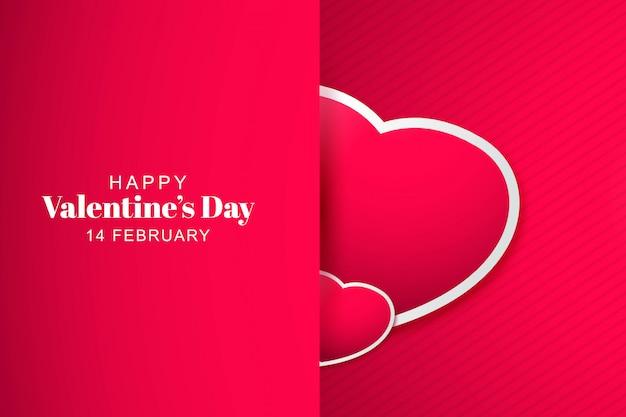 Amor corazón hermosa tarjeta