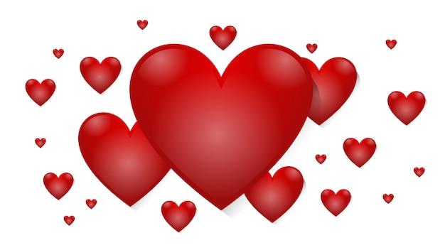 Amor corazón rojo san valentín romance