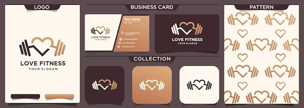 Amor deporte fitness gimnasio entrenamiento icono logo