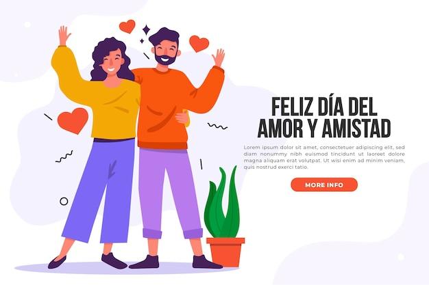 Amor día feliz pareja y plantas