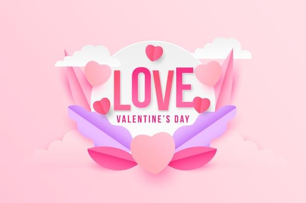 Amor del día de san valentín y flores